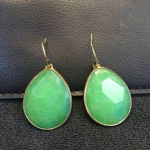 Stella & Dot Emerald Serenity Stone Drop Earrings